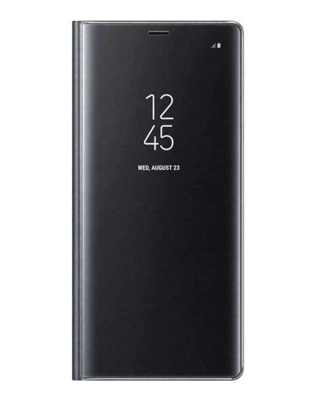 premium selection 5b6ad 1b9a3 Clear View Standing Cover Note 8 (Black)