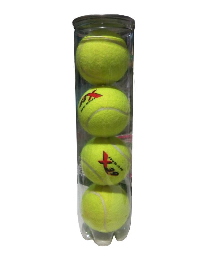Pack of 4 - Tennis Balls - Lime Yellow