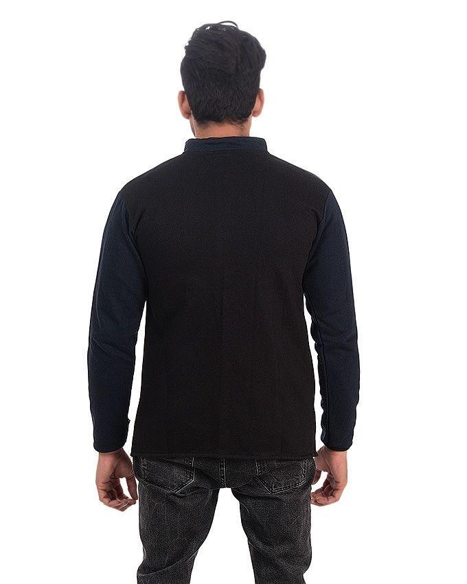 Blue - Fleece - Pocket Coat For Men