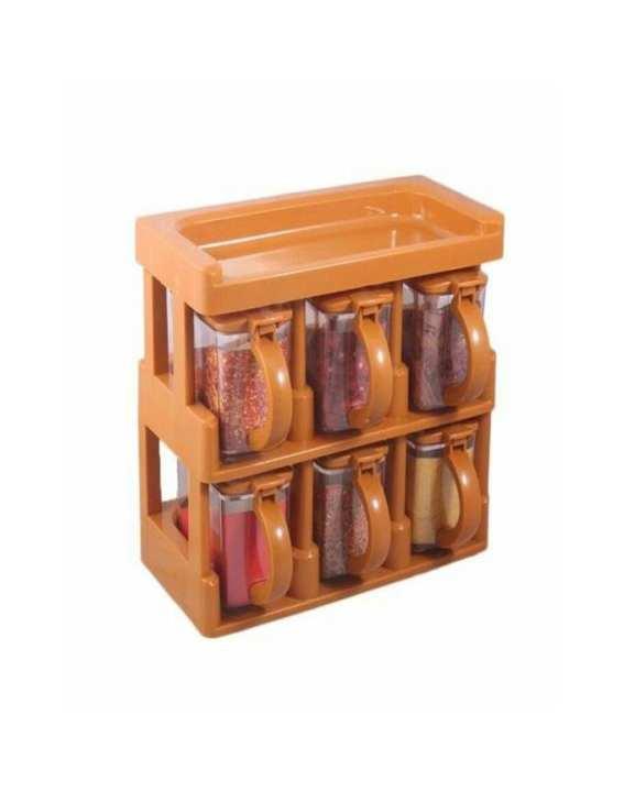 Tier Spice Rack With 6 Spice Jars