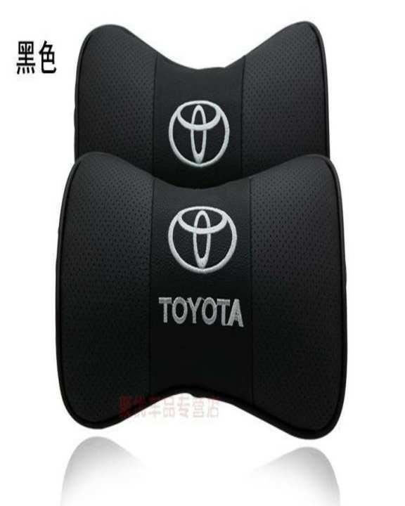 2 Pcs Bone-Shaped Car Seat Pillow Neck Rest Headrest Comfortable Cushion Pad With Toyota Logo