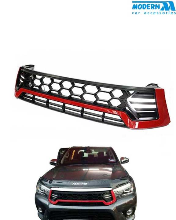 Toyota Hilux Revo Grille Red Line - Model 2016-2017