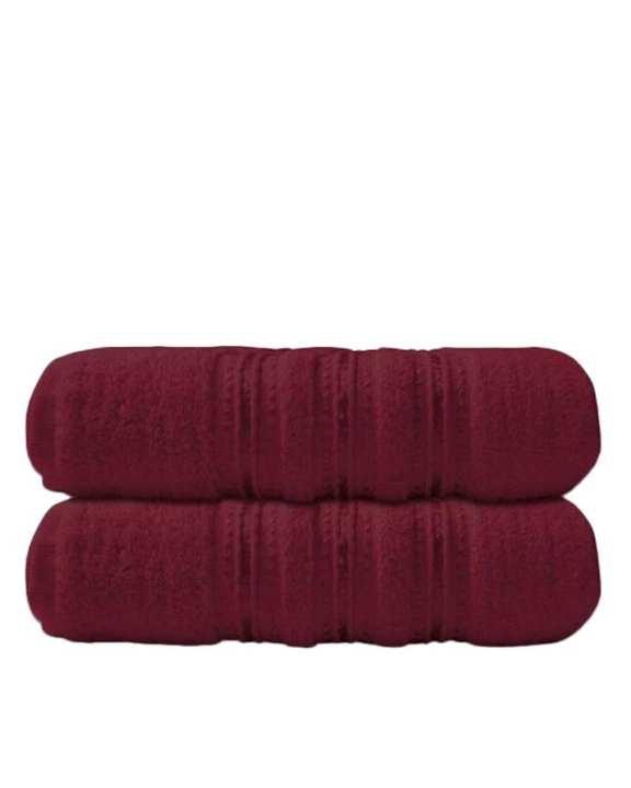 Pack of 2 - Cotton Bath Towel - Maroon