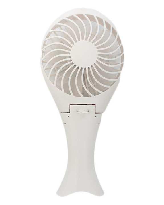 Get Style USB Charging Mermaid Handheld Fan (White)-White