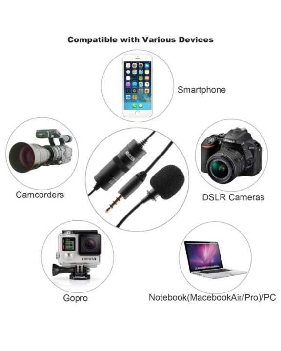 BOYA BY-M1 Compact On-Camera Video Microphone Youtube Vlogging Recording Mic for Phone Smartphone