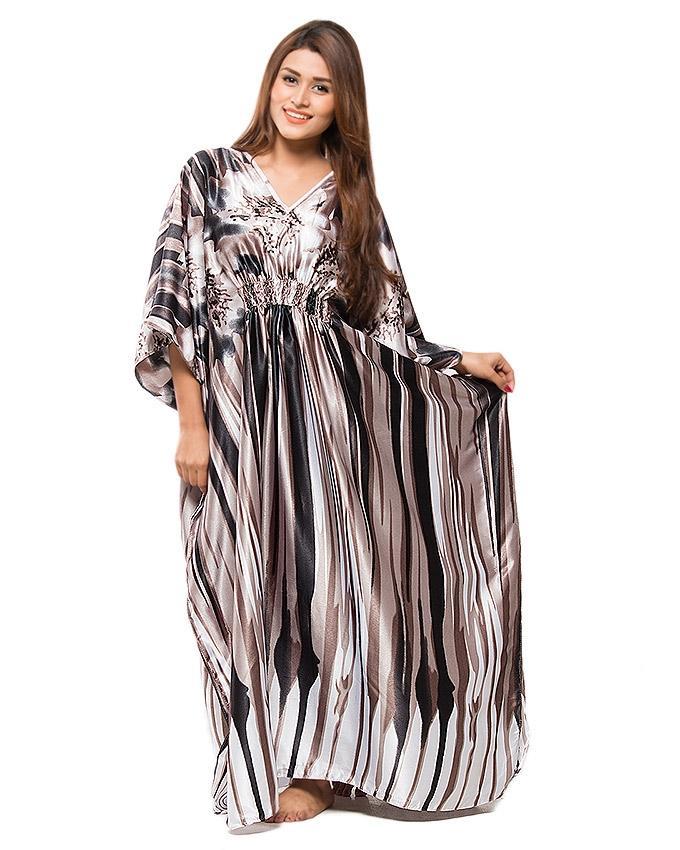 Black & Grey Night Dress For Women