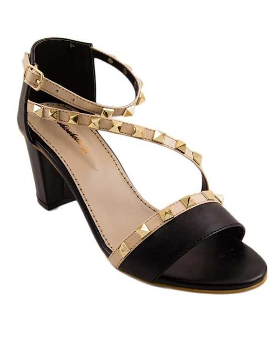 Black Heeled Sandals for Women