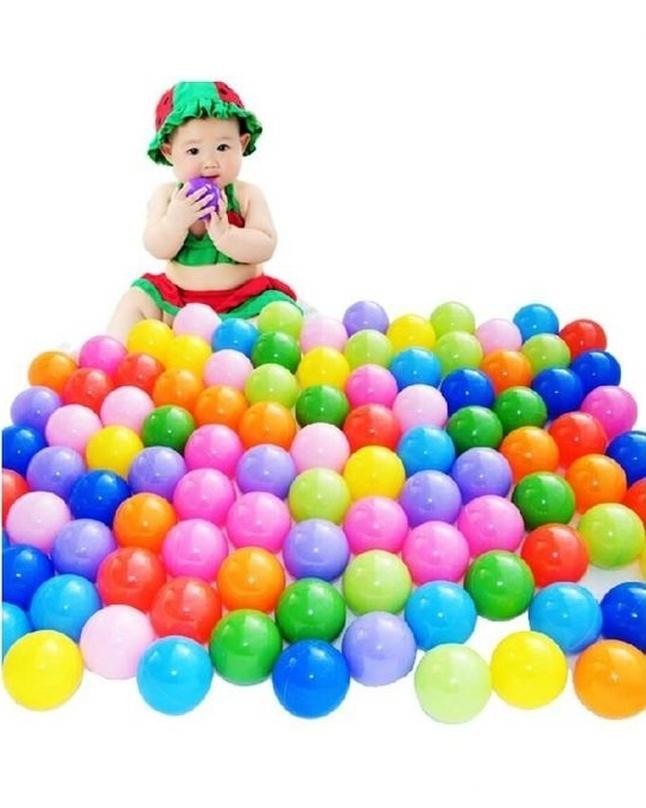 Pack of 100 - Soft Plastic Tent Balls Set For Kids - Multicolor