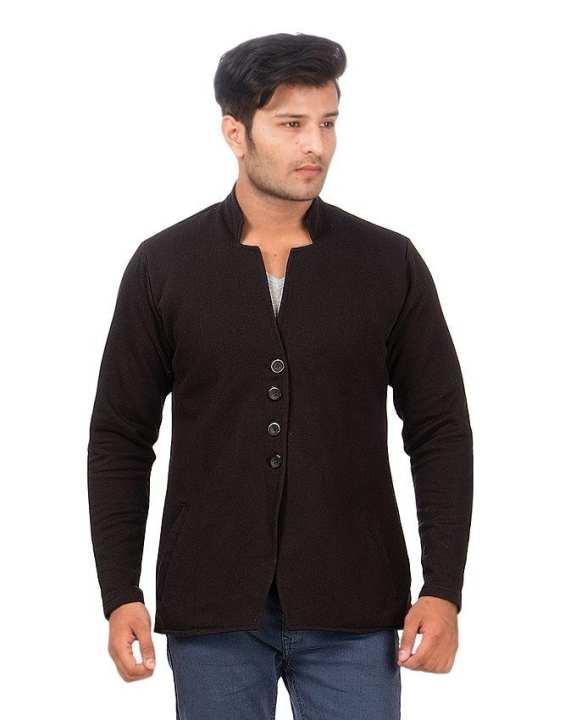 Black - Fleece - Coat For Men