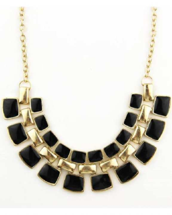 Black and Golden Choker Necklace
