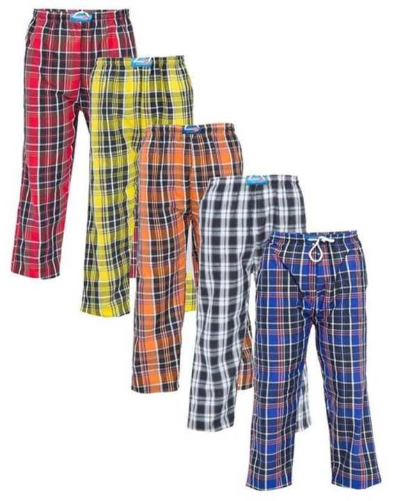 Pack of 5 - Multicolor Checkered Trousers for Men