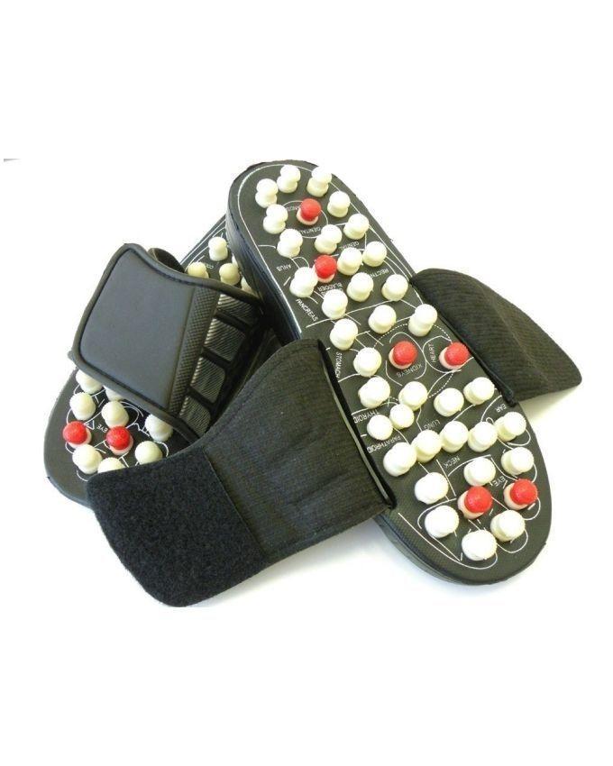 Foot Massager Slippers - Black