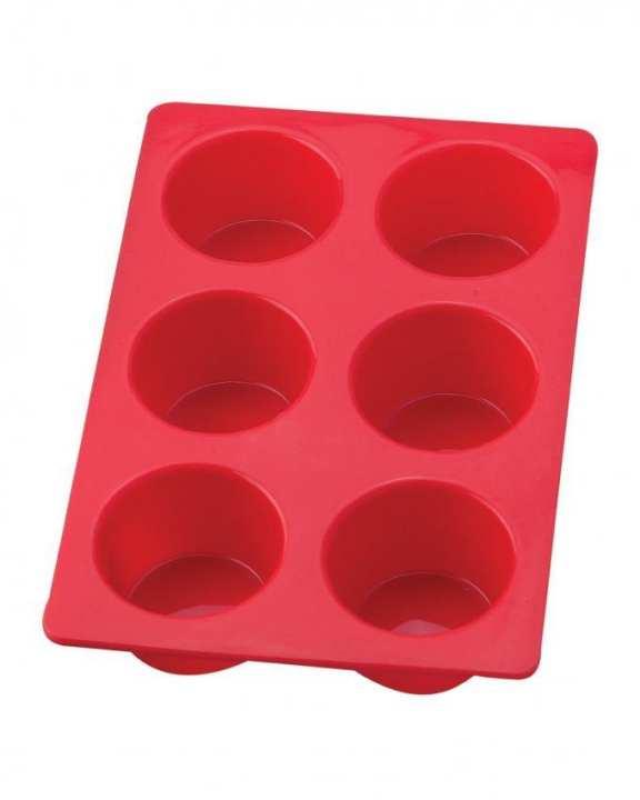 Silicone Cupcake Baking Pan - Red
