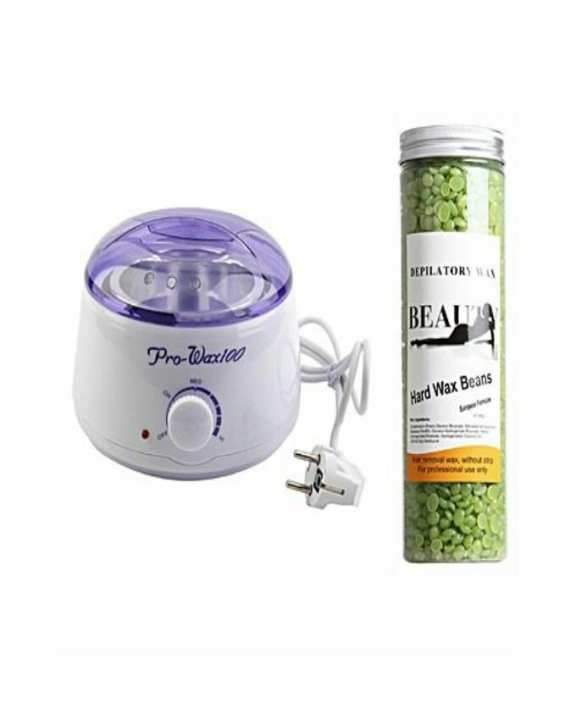 Pack Of 2 - Wax Machine & Wax Beans Jar - 400GM Green