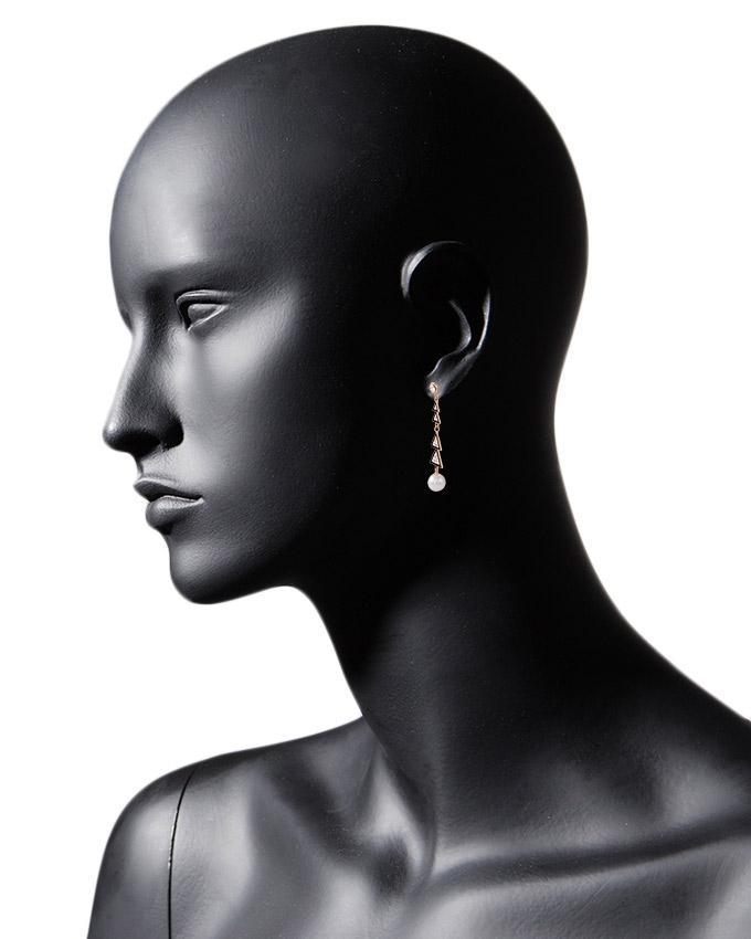 Golden Plated Pearl Earrings for Women - J-098