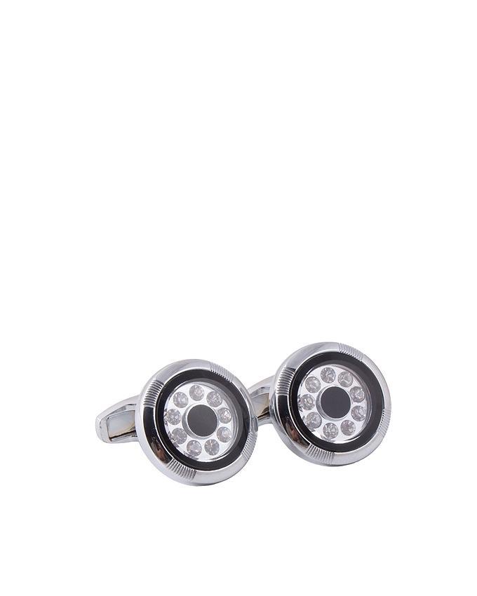 Silver Rhodium Cufflinks for Men - C-080