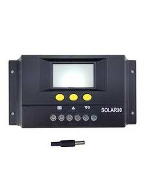 Solar Charge Controller - 30AMP - Black
