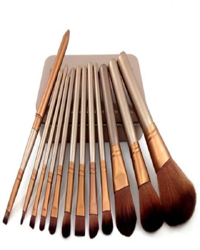 Pack of 12 - Makeup Brushes in Steel Box