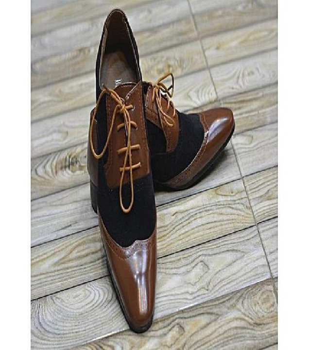 Brown Leather Formal Shoes For Men
