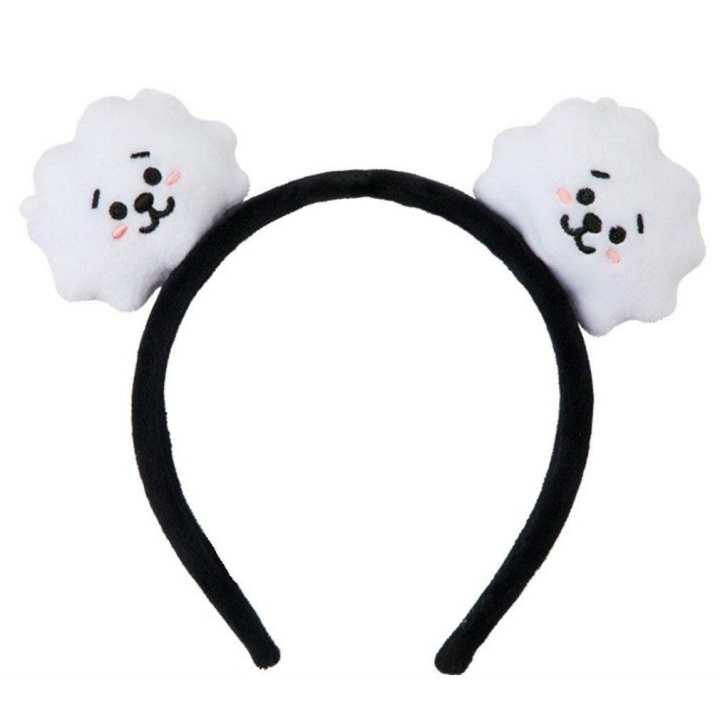 BT21 Elastic Hair Band Cartoon Headband Bangtan Boys Fans Plush Accessories white