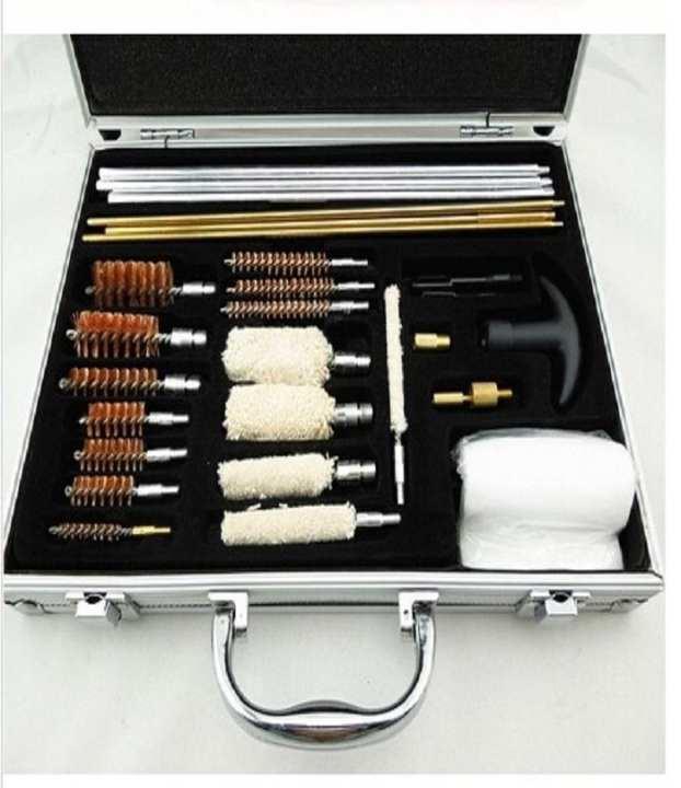 Gun Cleaning Kit Aluminium Box - 24Pcs