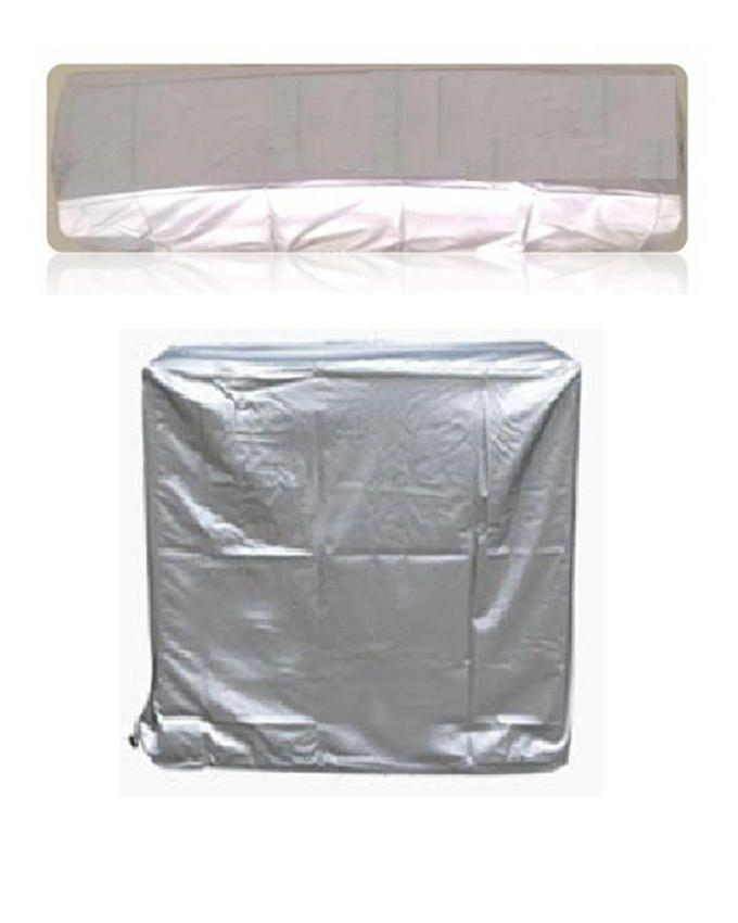 A/C Dust Cover For Indoor & Outdoor Unit - 1.5 ton - Grey