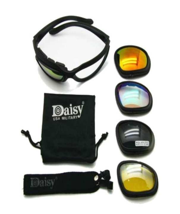 Daisy Goggles C5 , Military Sunglasses 4 Lens Kit