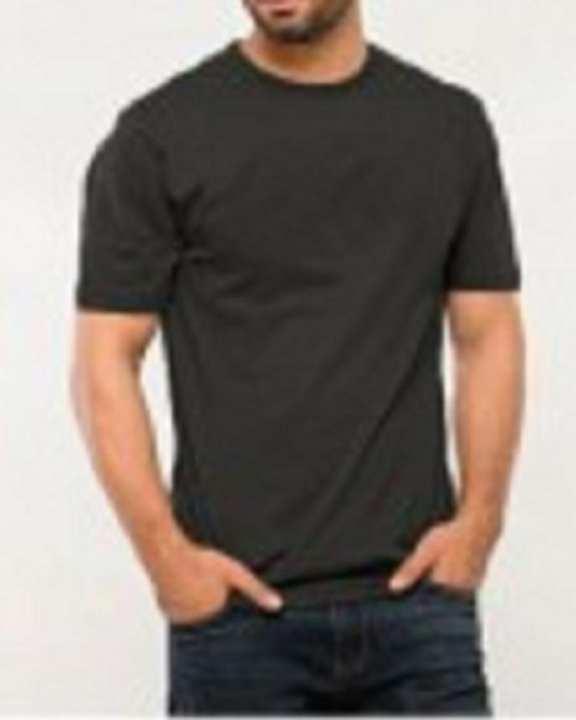 Grey Round Neck Cotton T-Shirt For Men