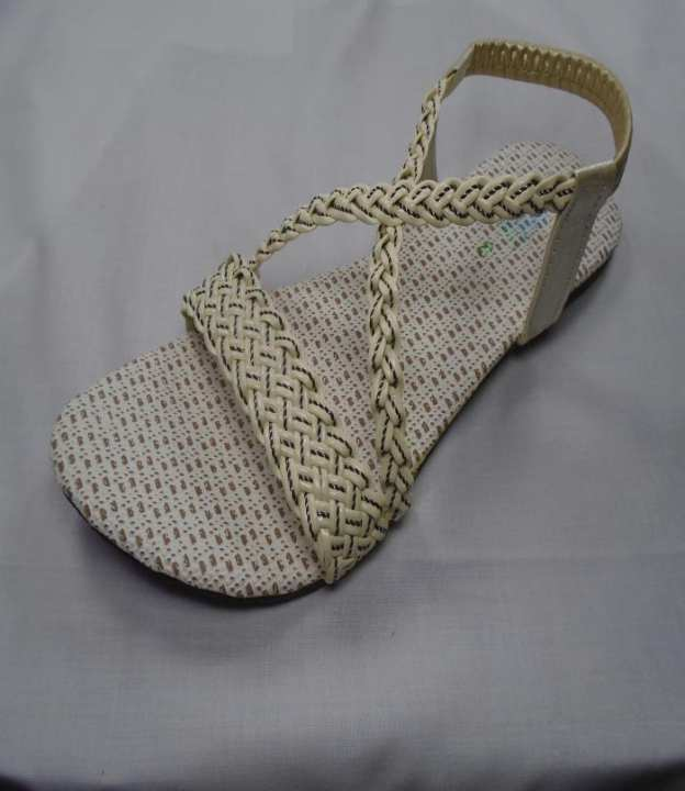 Cream Color Synthetic Fancy Sandal For Women - 219-50685