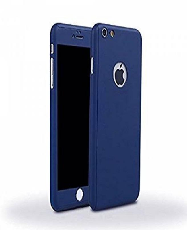 new concept 65a7c a9554 Huawei Honor 7S 360 Front And Back Cover With Glass Protector-Blue