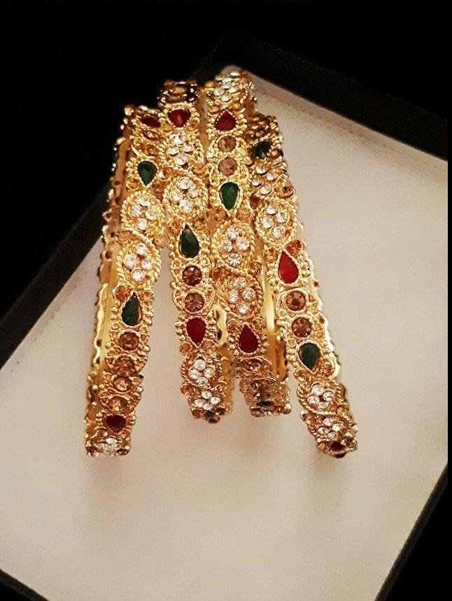 White & Golden Alloy Earrings For Women