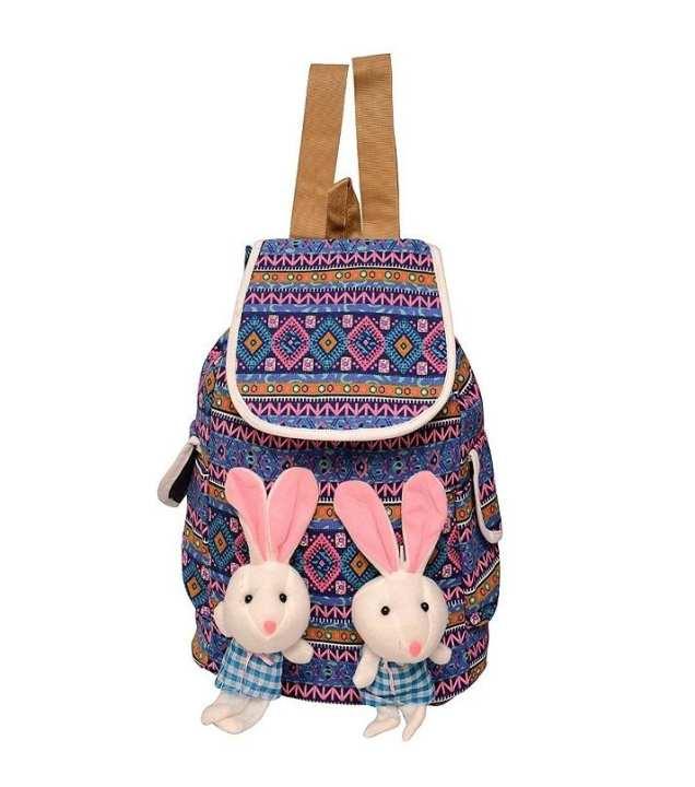 Cute Stuffed Girls College, Uni And School Bags - Multicolour