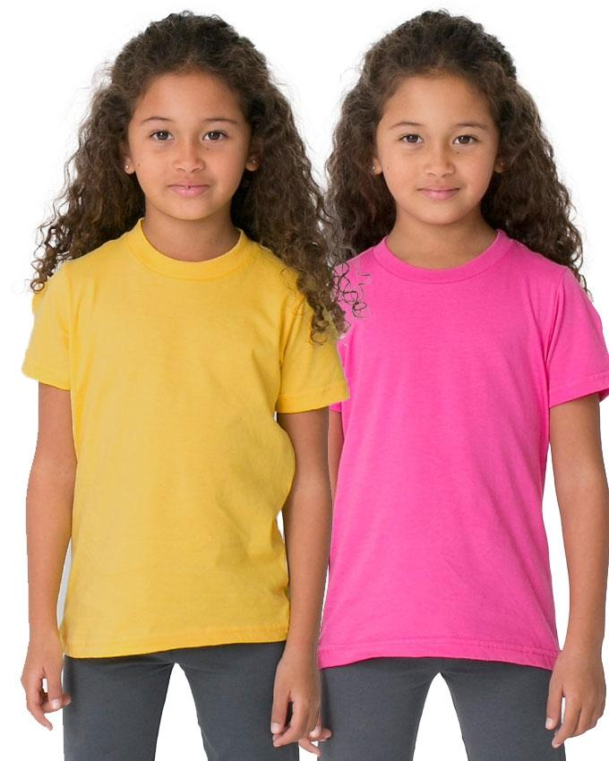 Pack of 2 - Pink And Yellow Kids T-Shirt Combo For Girls