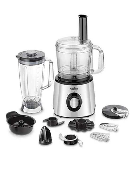 SHB-5091 - Food Processor - Silver & black