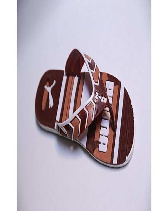 Brown Rubber Flip Flops For Men