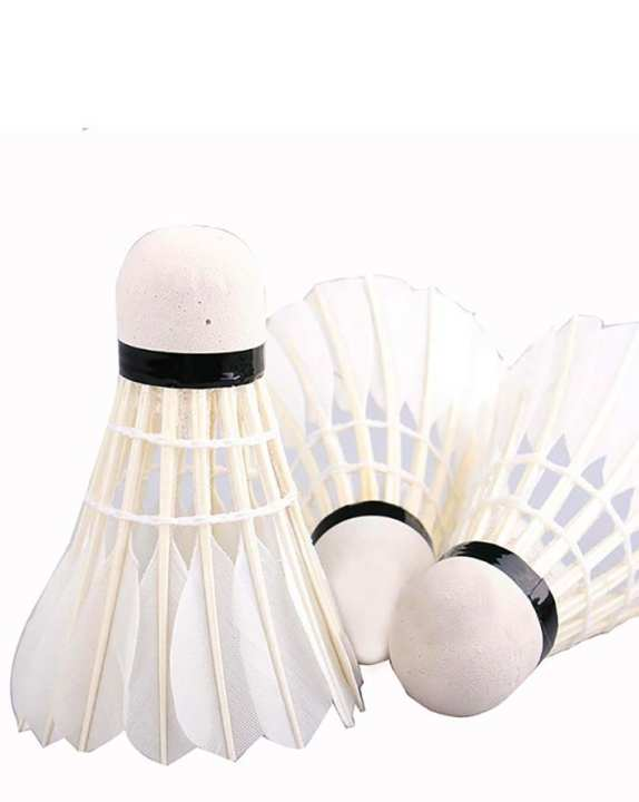 Badminton Shuttlecock - 12 Pcs - White