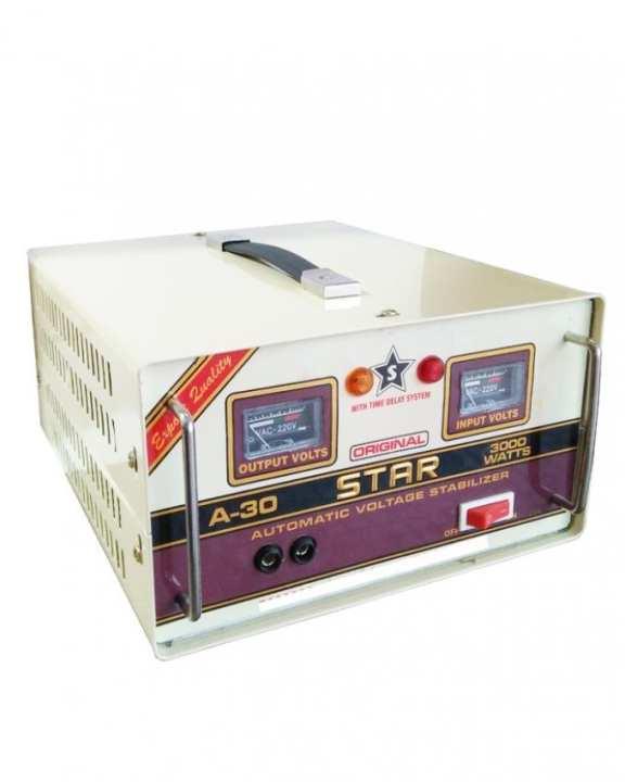 Stabilizer - 99.9% copper - 3000 W - 5 Relay E-World