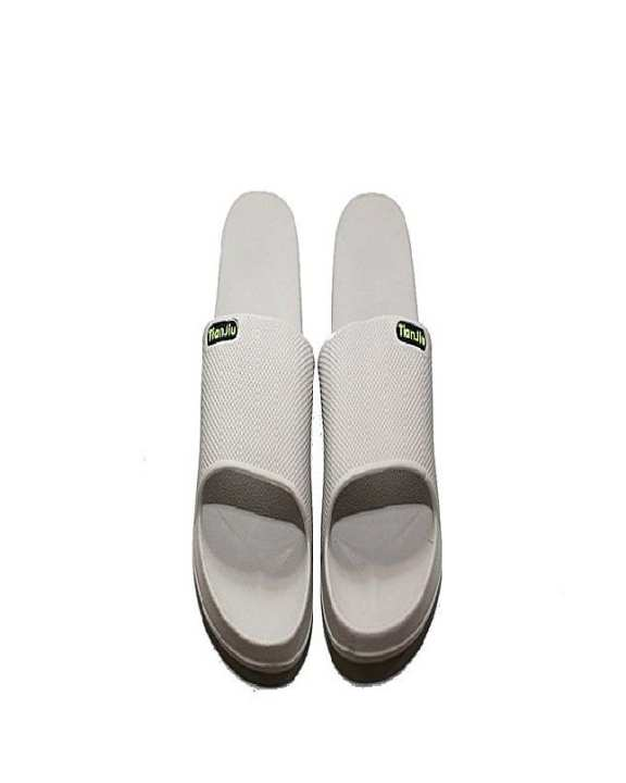 Cream Rubber Slippers For Men
