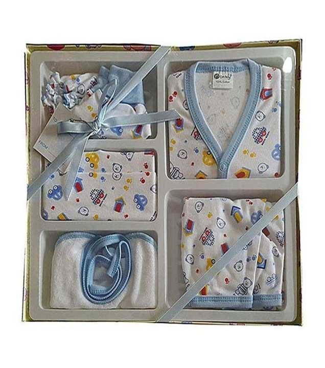 Zm Baby Baby Suit Collection Gift Set - Pack Of 6 - Blue
