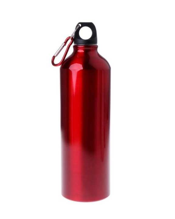 500ml Aluminum Alloy Water Bottle Outdoor Sports Cycling Drinking - Red