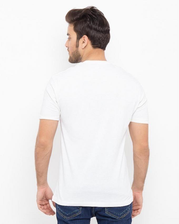 Pack of 3 - White Cotton Plain T-shirts For Men