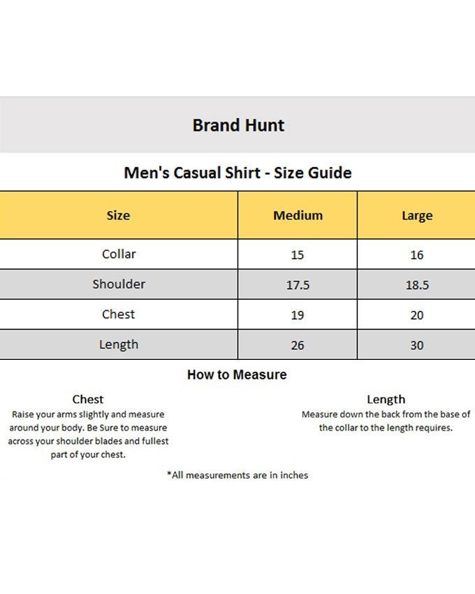 Choco Brown Cotton Casual Shirt For Men