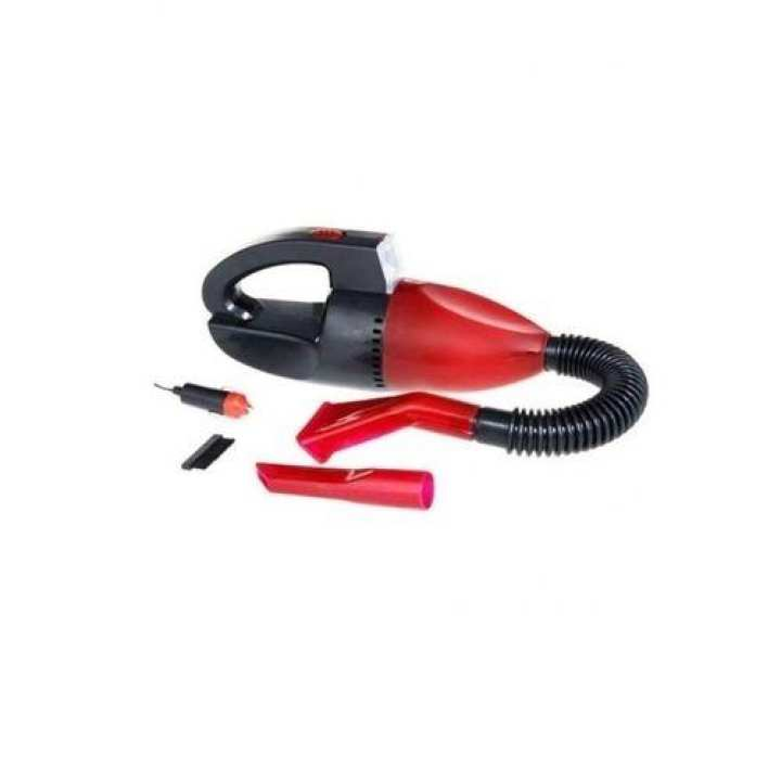 Portable Car Vacuum Cleaner with LED - Red and Black
