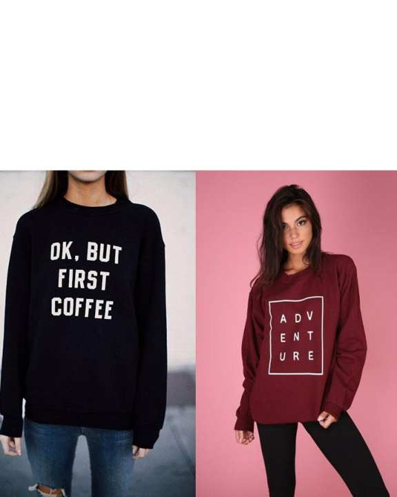 Pack of 2 - Maroon & Black Fleece Sweatshirt for Women