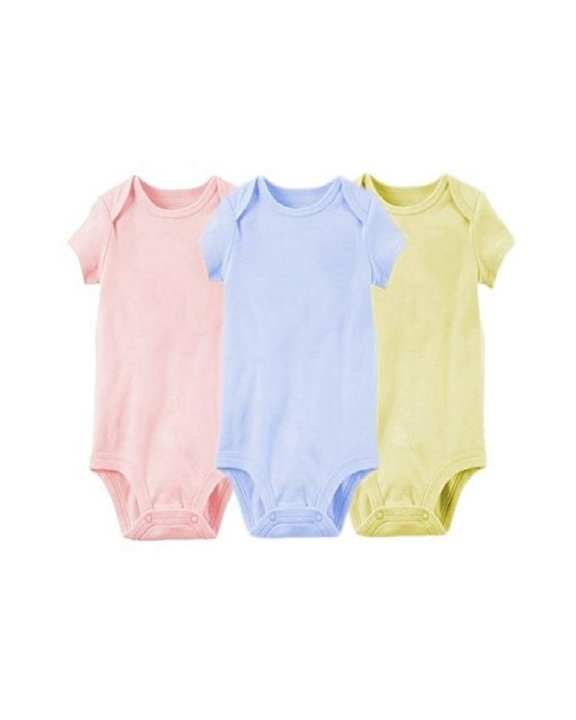 Pack Of 3 Baby Romper Body Cotton Sleeveless Suit