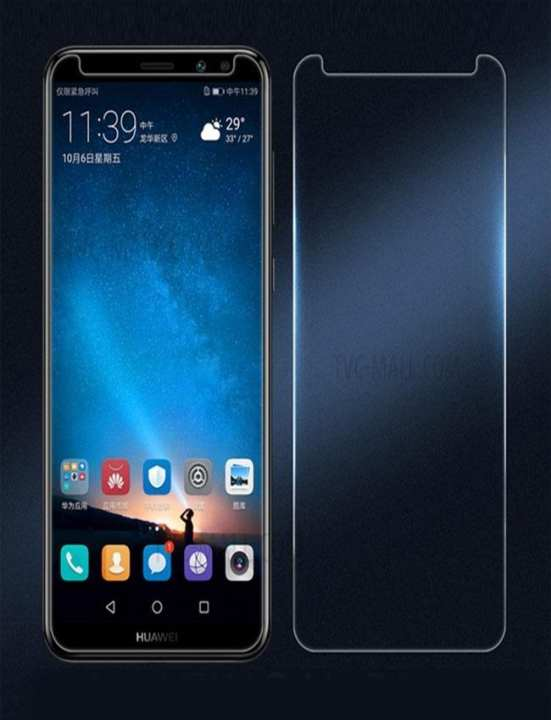 Huawei Mate 10 Lite Full Coverage Tempered Glass Screen Protector Transparent