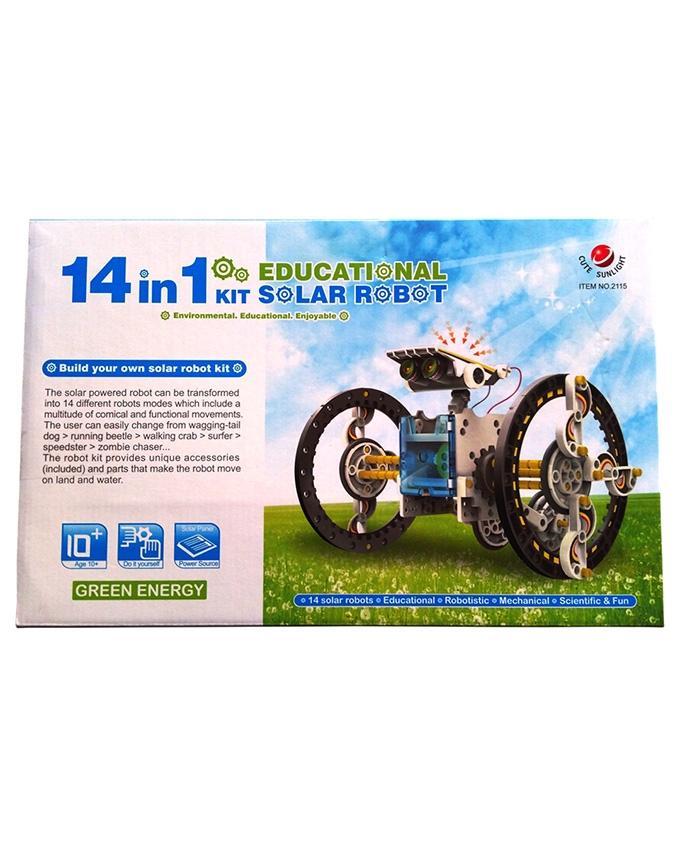 14 in 1 Educational Solar Robot - Multicolor