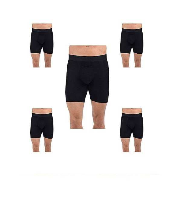 Black Cotton Boxer Shorts for Men