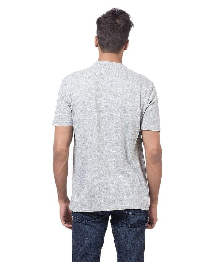 Grey Cotton Printed Why So Serious T-Shirt For Men