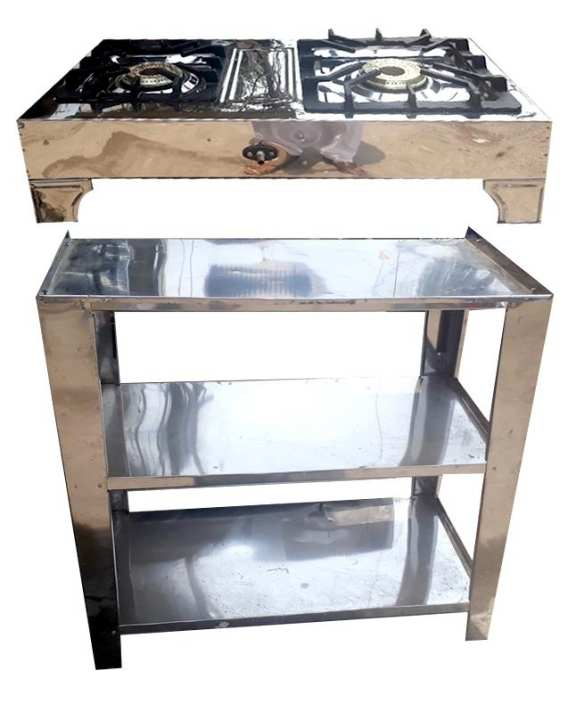 SatStore Gas Stove Burner With Stand- Silver Body